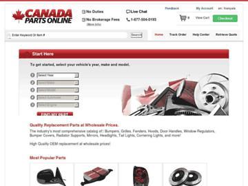 changeagain canadapartsonline.com