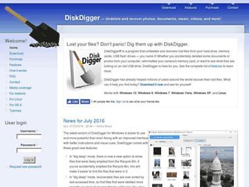 changeagain diskdigger.org