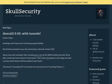 changeagain skullsecurity.org