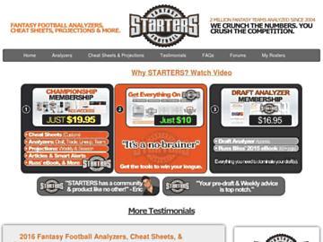 changeagain fantasyfootballstarters.com