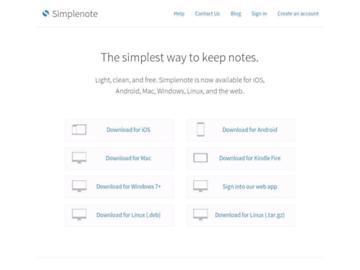 changeagain simplenote.com
